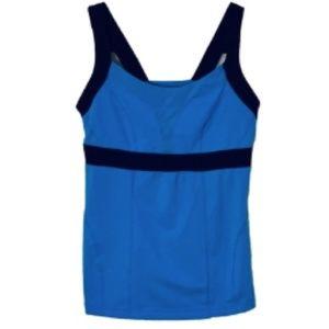 Zella Blue Activewear Tank: L